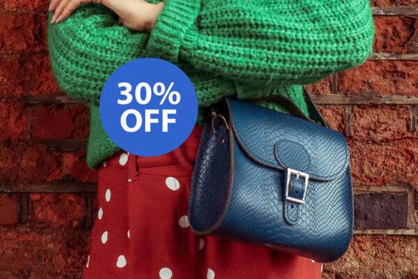 SALE Brit-Luxe Leather Shoulder Bag