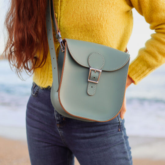 Milkman Medium Leather Bag Stormy Sea