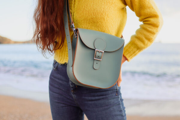 Milkman Medium Leather Bag Stormy Sea