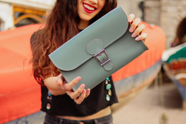 Brit-Luxe Clutch Bag Stormy Sea