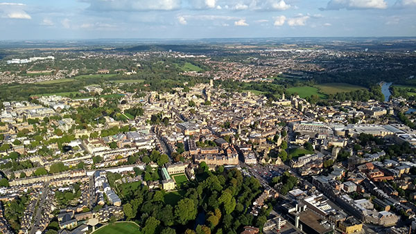 Aerial view of Oxford