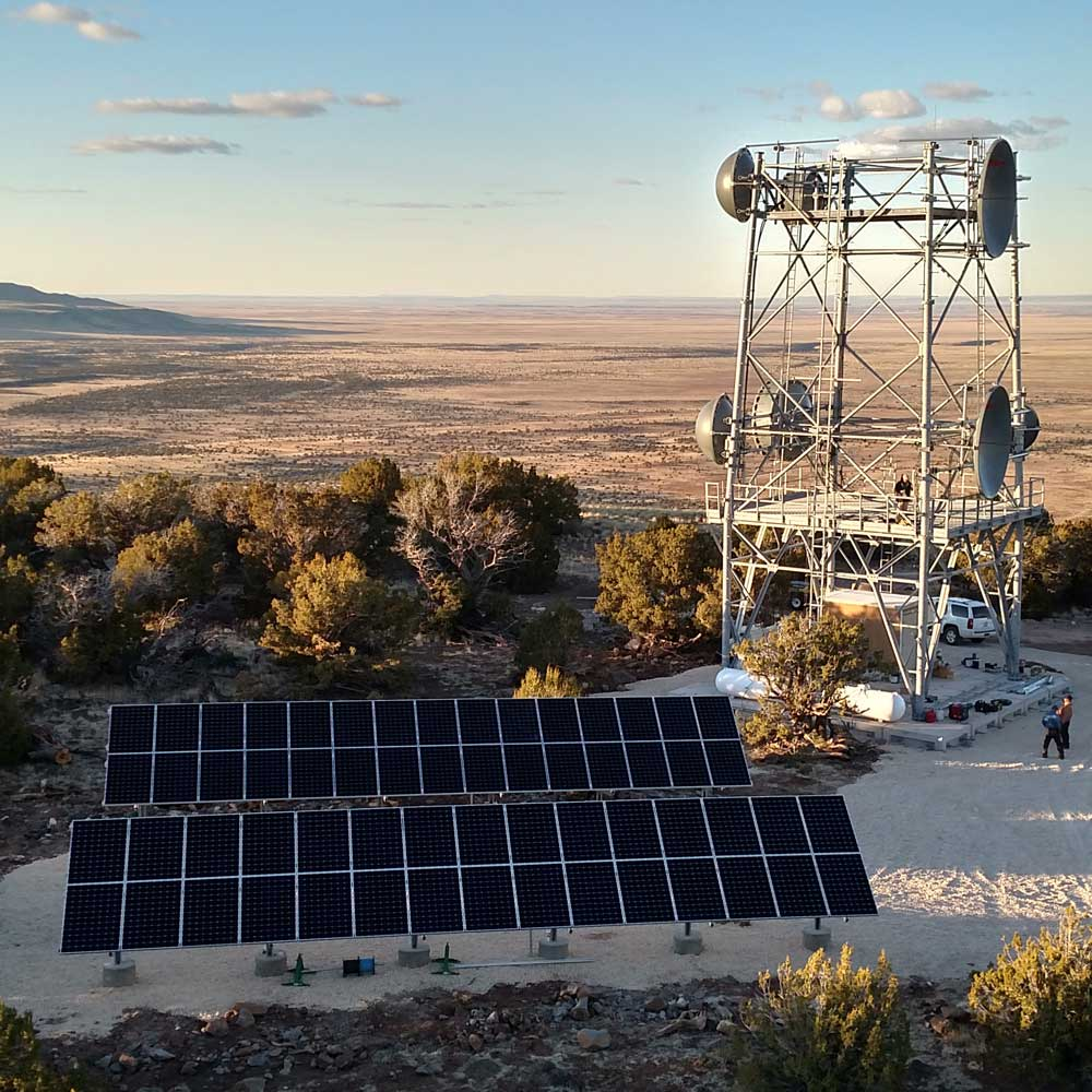 Chevelon Communications solar site by Industrial Solar Consulting