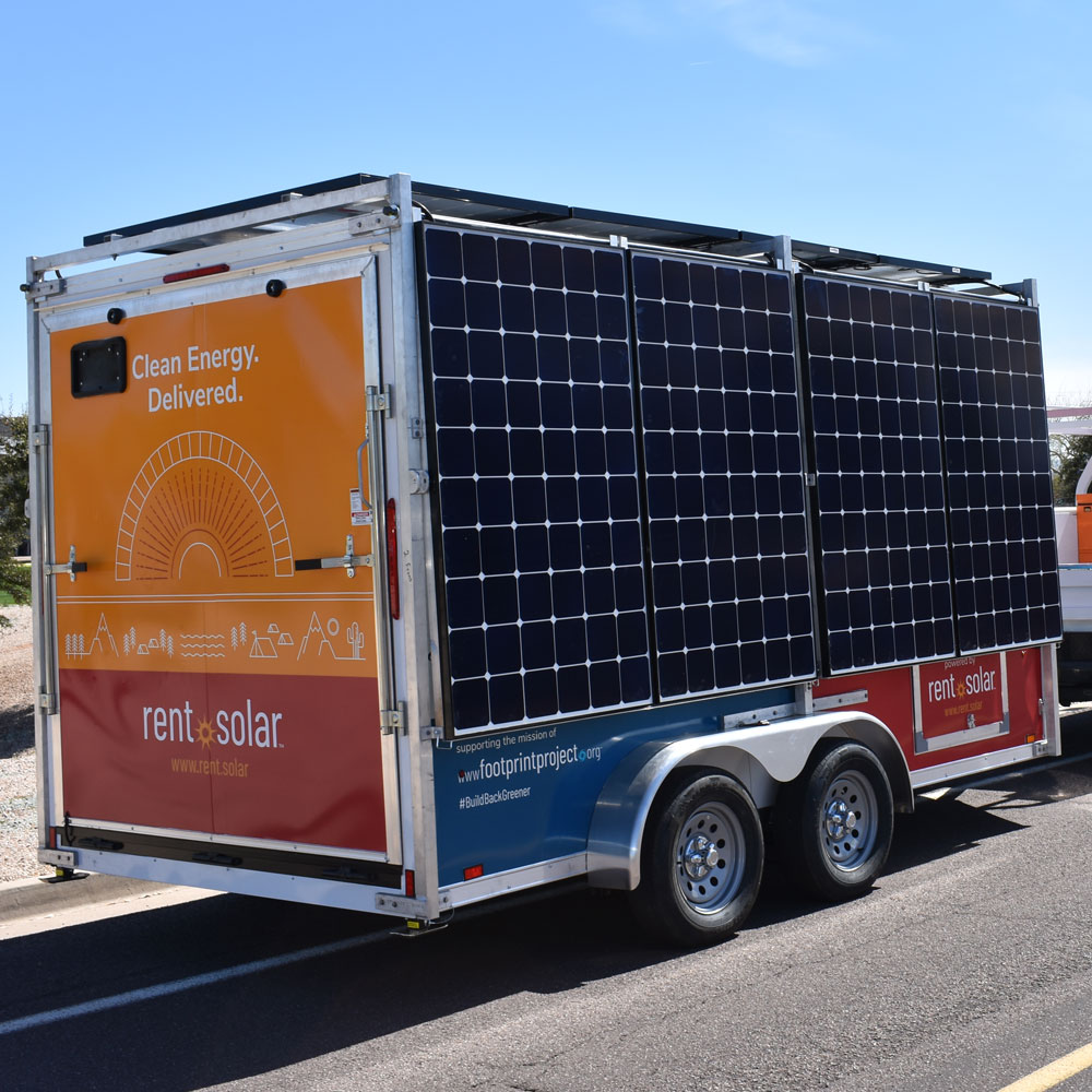 Rent Solar mobile solar trailer by Industrial Solar Consulting