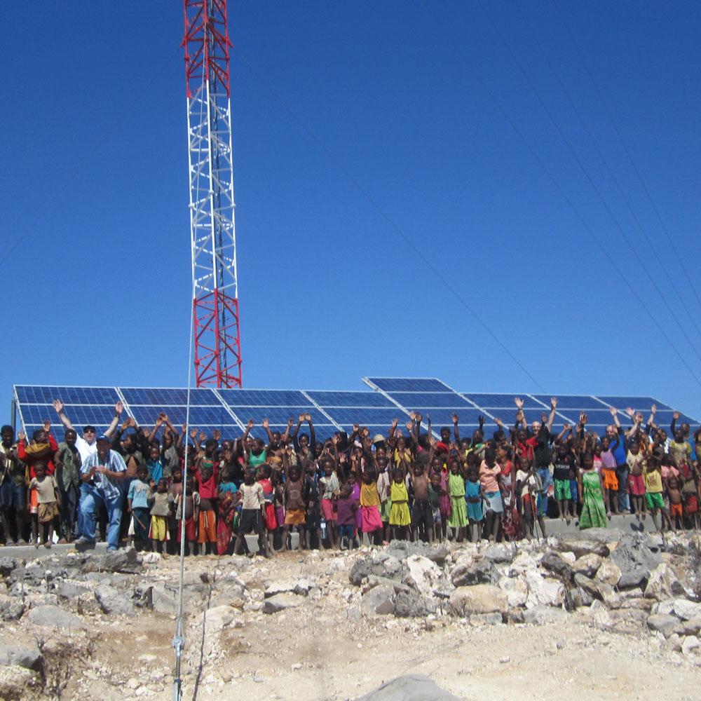 Madagascar Orange Telecom solar site by ISC