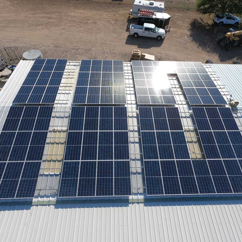 Vulture Mill solar site project by Industrial Solar Consulting