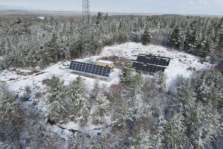 Meander Lake MN off grid solar installation