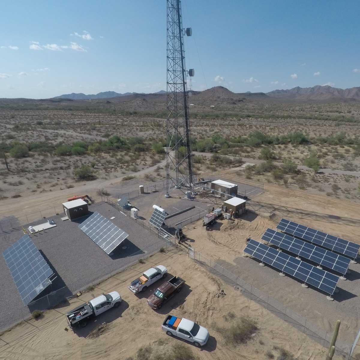 Freeman Road solar telecom installation by ISC