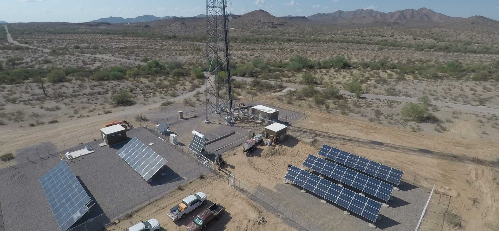 Freeman Road off-grid solar project by ISC