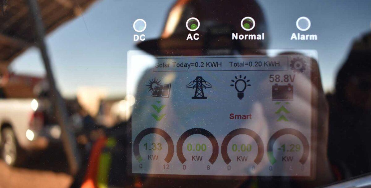 Power monitoring of off-grid solar installations