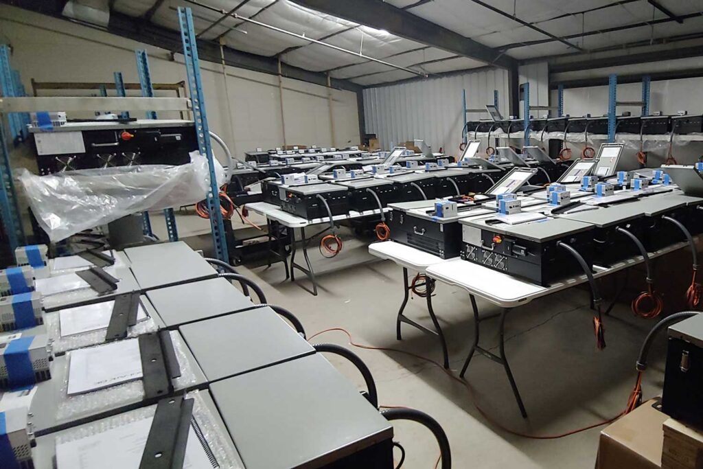 A full warehouse of solar supplies