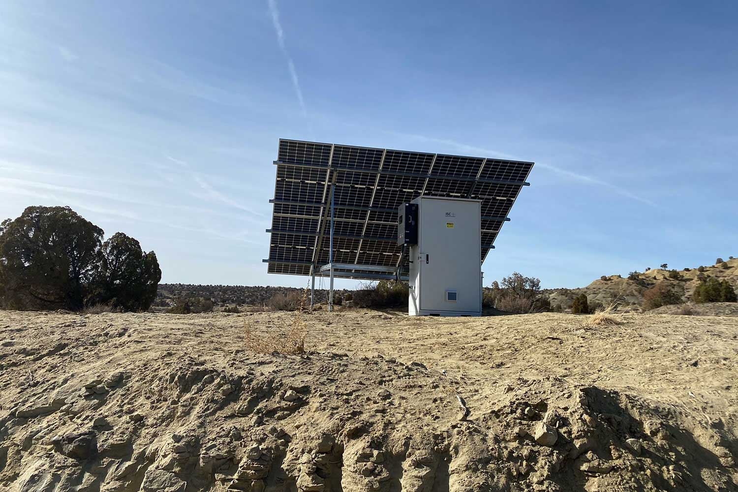 Off-grid solar power installation on the Navajo Nation by ISC
