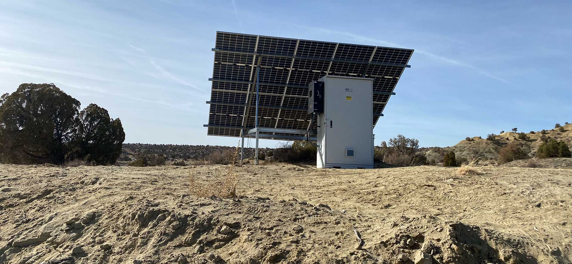 Off-grid solar project on the Navajo Nation