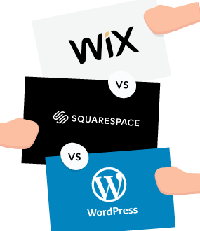 Wix vs Squarespace vs WordPress Featured Image 1