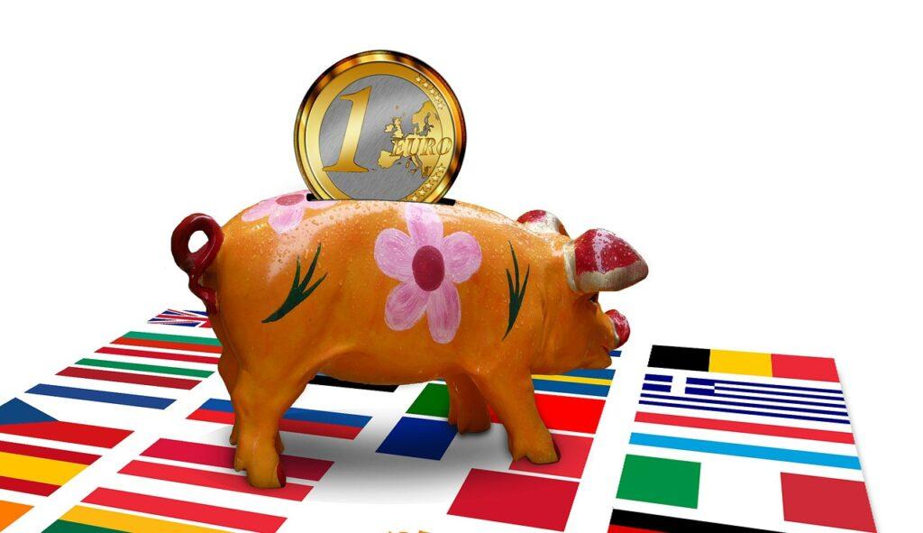 piggy bank, pig, save