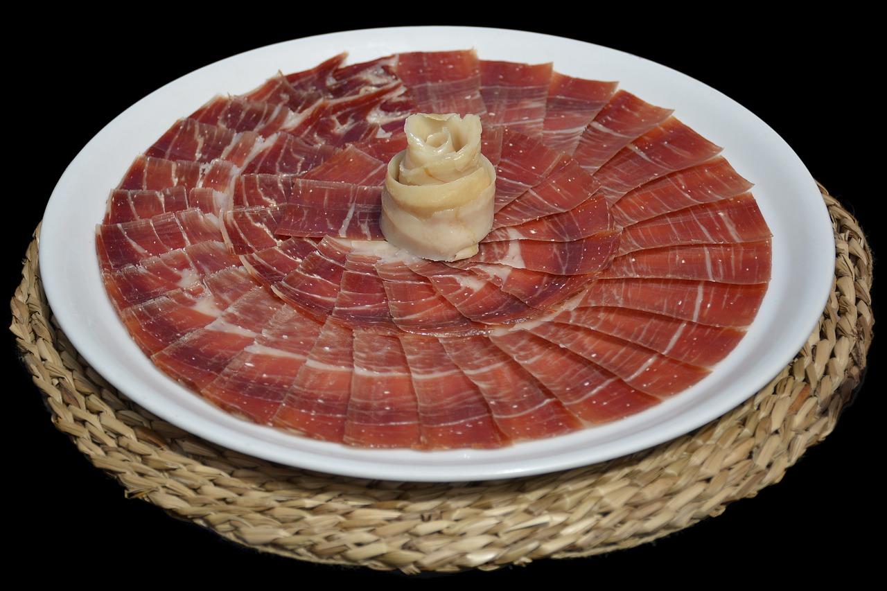 serrano ham, food, tapas
