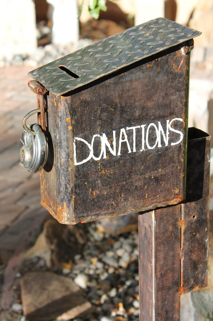 donations, donation box, charity