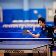 Hong Kong's Ka Man Wong lines up to hit the ball
