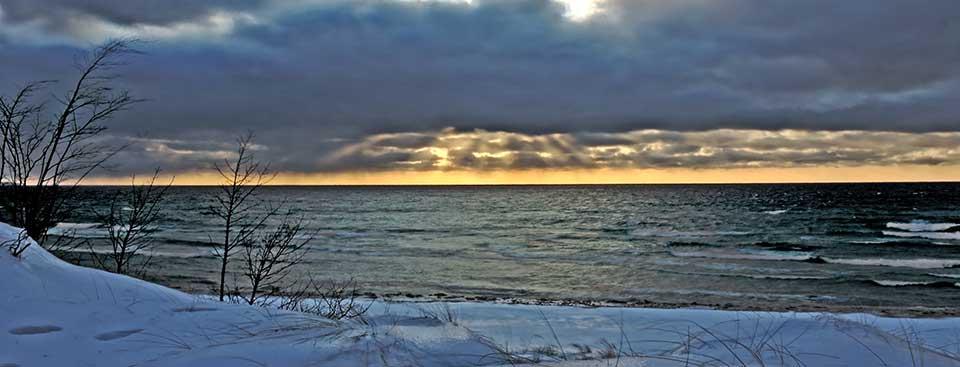 Lake Michigan water level at record low