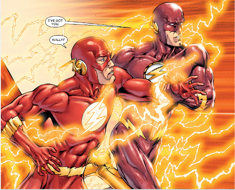 Barry Allen and Wally West running