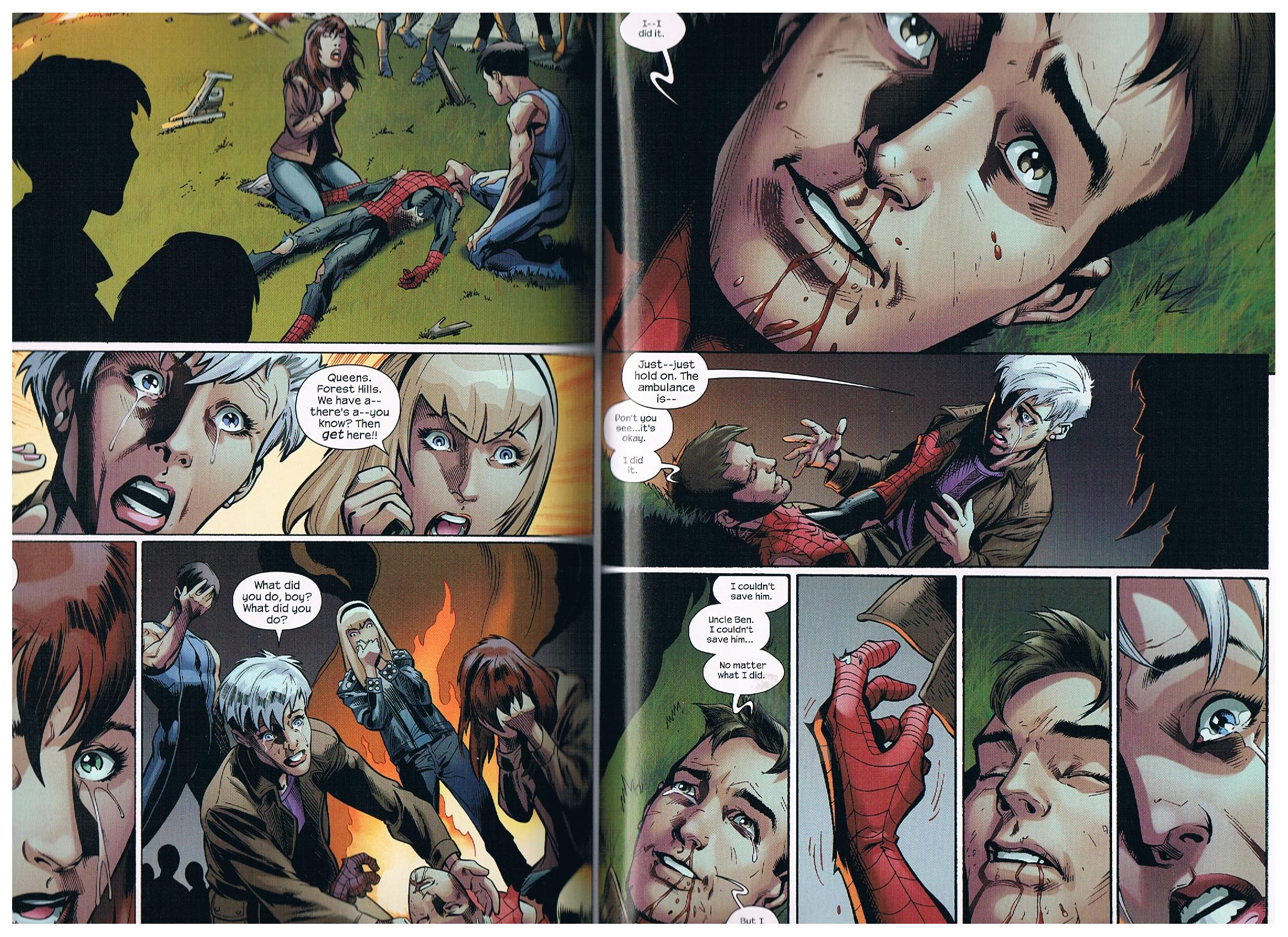 Peter Parker as Spiderman's death