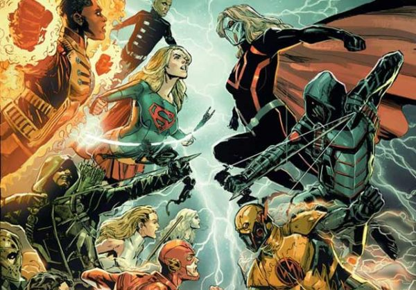 Battle between Earth 1 and Earth X's superhero and supervillain