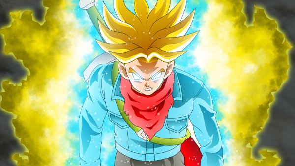 Spirit Bomb Super Saiyan Future Trunks in Dragon Ball Super