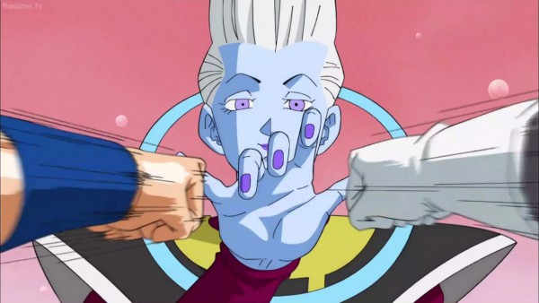 Goku and Vegeta's training with Whis in Beerus's planet