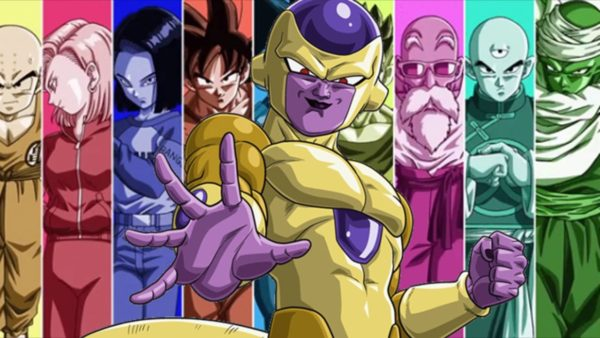 Golden Frieza with Universe 7's warrior in tournament of Power