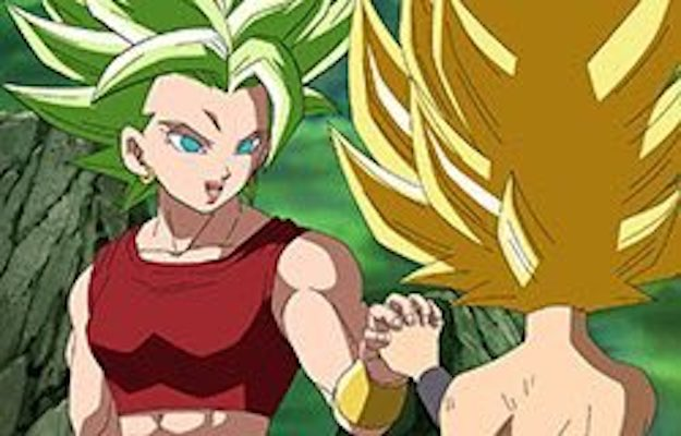 Super Saiyan Kale and Super Saiyan Caulifla