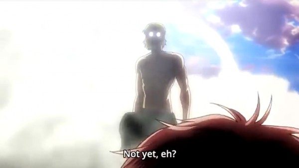 Zeke Yeager as Beast Titan on the Attack on Titan season 2 last episode 12
