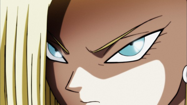 Android 18 looking at Shin