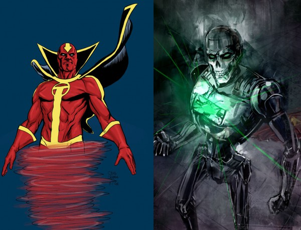 Red Tornado and Metallo DC comics character
