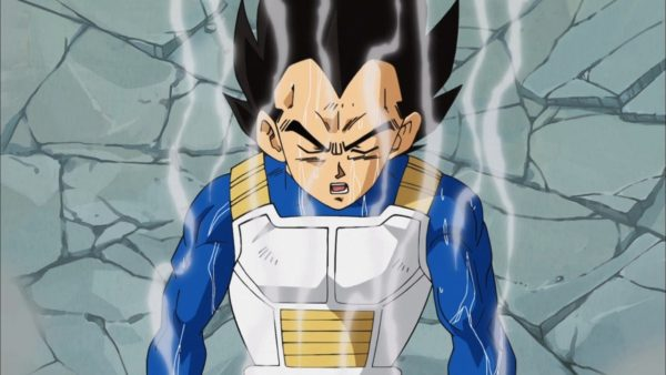Vegeta trained from Hyperbolic Time Chamber new powers