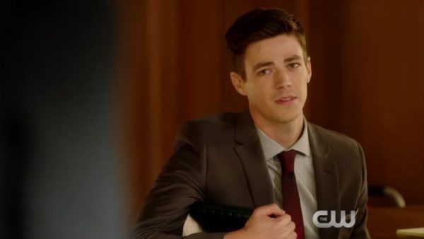 Barry Allen on the Flash Season 4 episode 10
