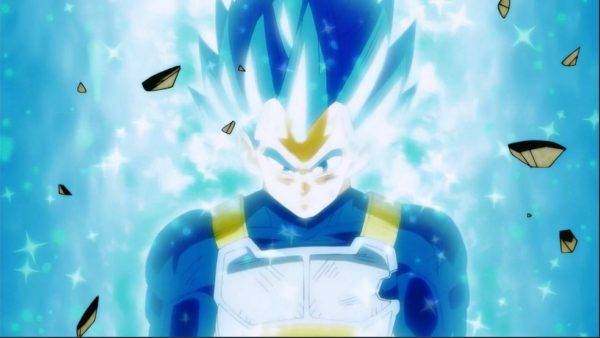Vegeta's new powers Super Saiyan Blue