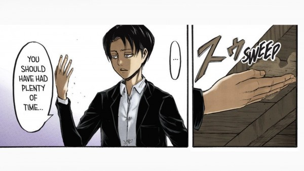 Captain Levi found dirty spot in Attack on Titan manga chapter 52