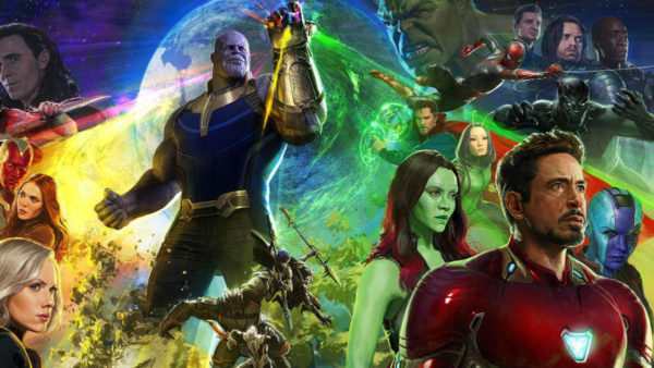 Avengers: Infinity War poster featuring Thanos