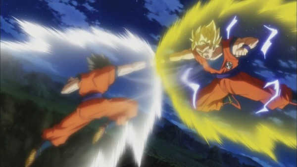 Goku vs Gohan fight before Tournament of Power