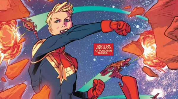Captain Marvel superhuman strength