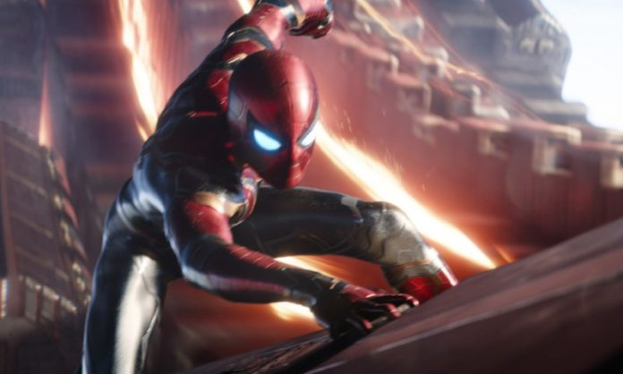 Peter Parker as Spider-Man in Iron Spider Suit
