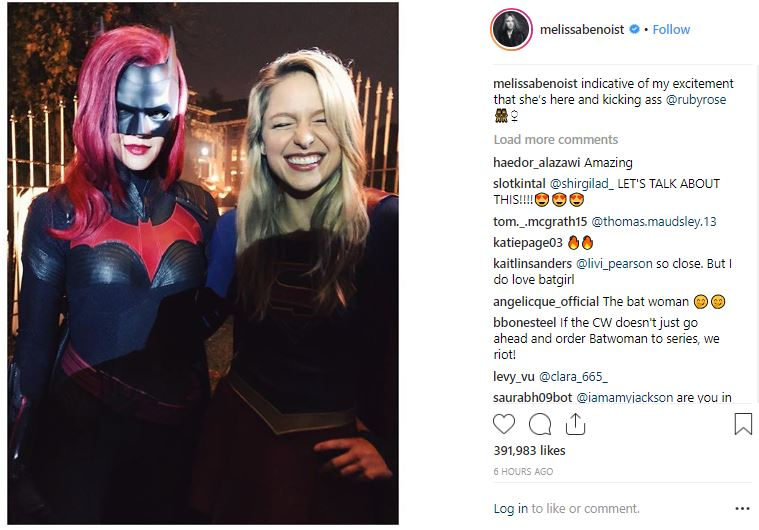 Ruby Rose Melissa Benoist Elseworlds Set photo