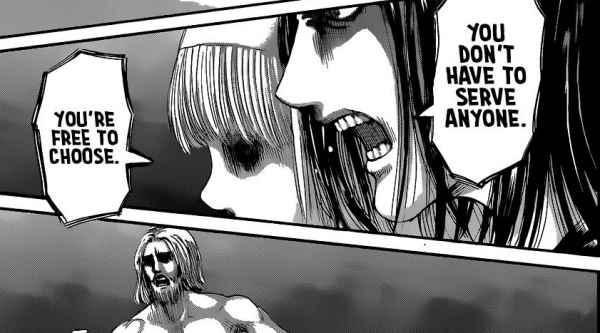 Eren convince Ymir to destroy world