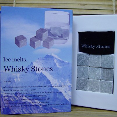 WHISKY ON THE ROCKS, NATURAL GRANITE WHISKY STONE‏