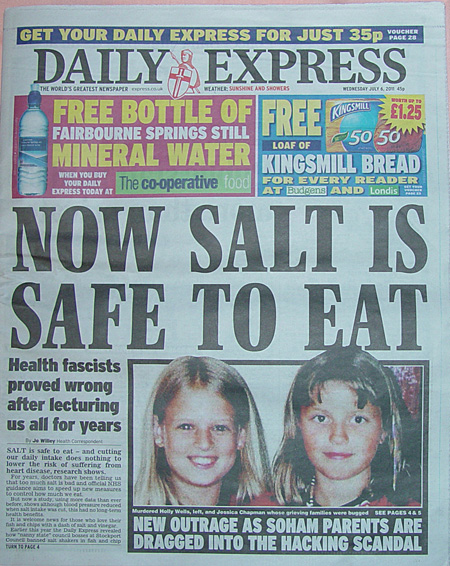 New Findings on Salt Consumption