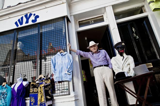 Ivy's shop Brighton with Michael