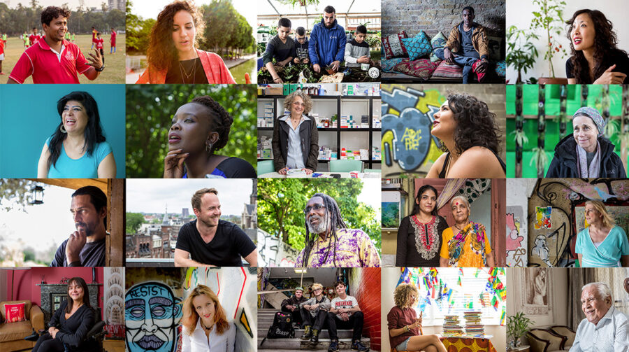 Generation Share - a collage of global changemakers from the book