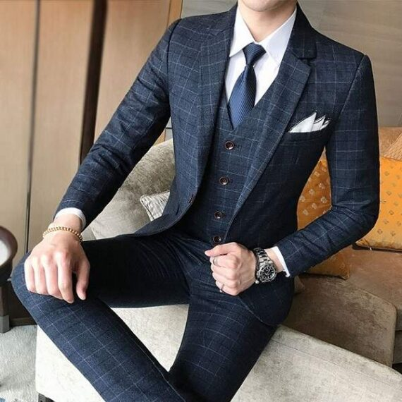 Costume mariage carreaux homme mode