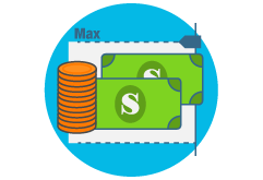 SendSpend money limits icon