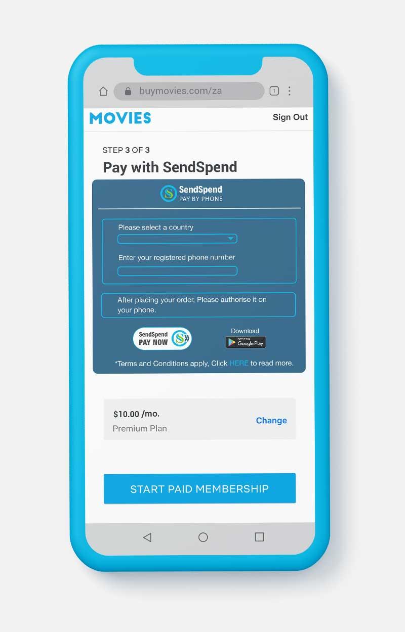 SendSpend Payment Gateway screenshot