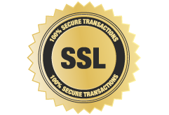 SLL Security badge - 100% secure transactions